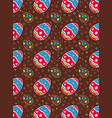 easter eggs seamless pattern on brown vector image vector image