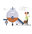 Elegant man in the airport vector image