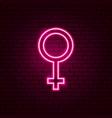 female gender neon sign vector image
