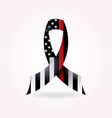 firefighter support ribbon vector image vector image
