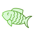 fish flat icon animal green icons in trendy flat vector image vector image