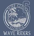 Florida beach typography t-shirt graphics