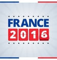 France 2016 poster vector image vector image