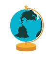 globe map world vector image vector image