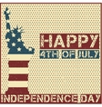 Happy 4th of July vector image vector image