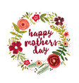 happy mothers day greetings card vector image vector image