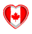 heart shaped flag of canada vector image