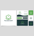 home nature logo design and business card vector image vector image