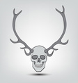 horned human skulls vector image vector image