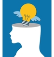 Idea design Light bulb icon Flat vector image