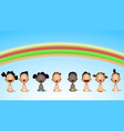 interracial group of babies and toddlers under vector image