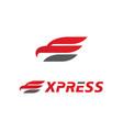 letter e for express logo icon vector image