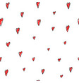 love valentines day hearts seamless pattern vector image