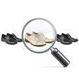 Male Shoes with Lens vector image