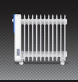 oil radiator isolated on transparent background vector image vector image
