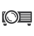 projector solid icon presentation and meeting vector image vector image