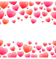 romantic seamless borders vector image vector image