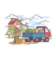 sale of house vector image vector image