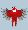 Satan Claus Devil with beard and mustache Red vector image vector image