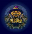 scary halloween pumpkin vector image vector image