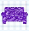 Scribble icon on the school paper vector image vector image