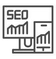 seo line icon gadgets vector image vector image