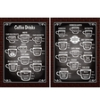 set cups with different coffee drinks vector image vector image