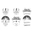 set kickball logo badges and emblems vector image