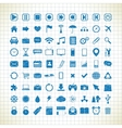 set media icons in style sketch vector image