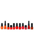 set of a color nail polish vector image vector image