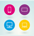 set of icons mobile devices and computers vector image