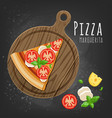 set of italian pizza on wooden boards 9 items vector image vector image