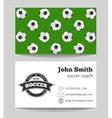 Soccer club business vector image