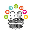 social media network icons vector image vector image