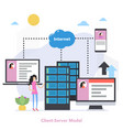 square client server model concept with gradient vector image vector image