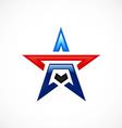 star shape pride logo vector image vector image