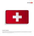 switzerland flag design vector image
