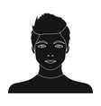 the face of a young guy face and appearance vector image vector image