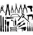 tools silhouettes collection vector image vector image
