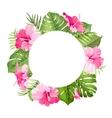 Tropical flower frame vector image vector image
