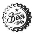 vintage craft beer logo vector image vector image