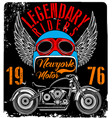 vintage motorcycle t-shirt graphic vector image vector image