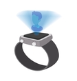 Watch with hologram cartoon icon vector image