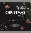 winter christmas party december 25th invitation vector image vector image