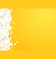 yellow background with white bubbles vector image vector image