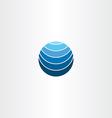 blue logo globe earth symbol element vector image