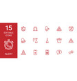 15 alert icons vector image vector image