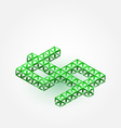 3D Dollar Sign made with triangles - green vector image vector image