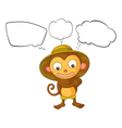 A little monkey with empty callout vector image vector image