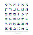 abstract blocks set vector image